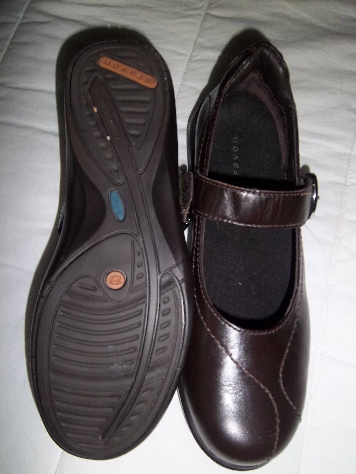 Ladies Brown Combination Last Aravon Mary Jane shoes shoes shoes Size 7.5 201247