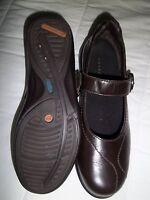 Ladies Brown Combination Last Aravon Mary Jane Shoes Size 7.5