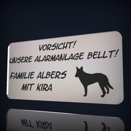 HUNDEMOTIV KLINGELSCHILD NAMENSSCHILD WARNSCHILD SPIEGEL TÜRSCHILD INKL