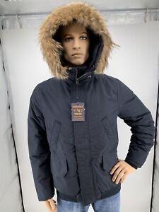 save off 3cac5 df6db Details zu Original WOOLRICH Daunen Northern Jacket mit Pelz Herren NEU  Große-L