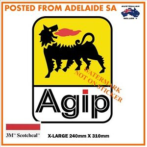 NEW-AGIP-FUEL-OIL-PETROL-DECAL-STICKER-LABEL-X-LARGE-240mm-DIA-WIDE-HOT-ROD