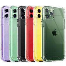 For iPhone 11/Pro/Max/XS Max/XR/X/7/8/Plus Clear Tempered Glass+Bumper TPU Case