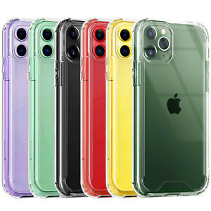 For-iPhone-11-Pro-Max-XS-Max-XR-X-7-8-Plus-Clear-Tempered-Glass-Bumper-TPU-Case