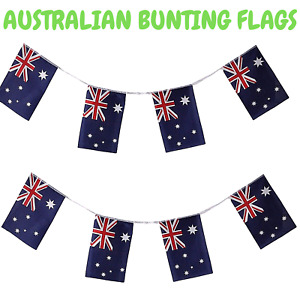 7m AUSTRALIA BUNTING FLAG Australian Day Colours Party Banner Flags Decor