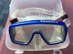 Ventura-Blue-Silicone-Snorkel-amp-Diving-Mask-Monocle-In-Blue-SeaQuest