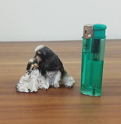 Kleine Aufstell-figur Hund Japan Chin ?! Höhe 5,8cm Deko
