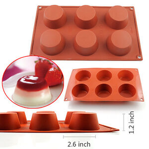 6 Cup Round Silicone Cookie Muffin Baking Mold Handmade
