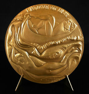 Medal-Tristan-Corbiere-Poet-Ghost-Symbolism-Morlaix-the-Lovers-Yellow-1975