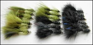 Trout Flies18 per pack Gold head Flash Damsels Size 10 Black amp Olive - <span itemprop=availableAtOrFrom>Morecambe, Lancashire, United Kingdom</span> - Returns will be accepted unused and in the original packaging. Postage of return will be the responsibility of the buyer - Morecambe, Lancashire, United Kingdom