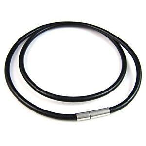 Wholesale-Lot-10pcs-Mens-Womens-Black-Genuine-Leather-Cord-Necklace-Chain