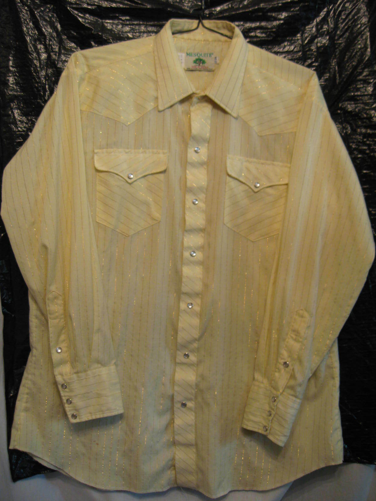 MESQUITE Men's Western Pearl Snap Cowboy Rodeo Square Dance Shirt Sz 17 x 34 NEW