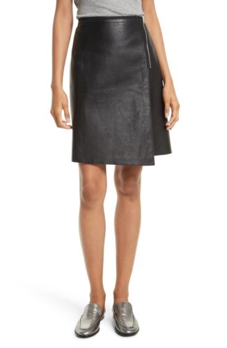 Authentic WOMENS Rag and Bone Lloyd Leather Skirt,