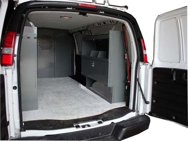 Van Shelving Unit With Door