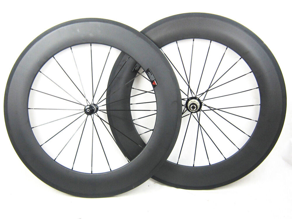 23mm width 88mm clincher carbon fiber bicycle wheels with carbon hub