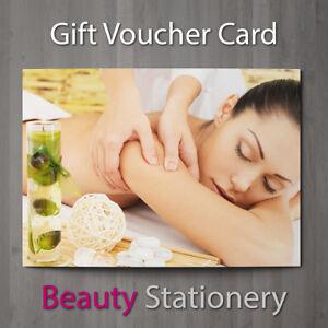 gift voucher beauty salon blank card massage coupon nail