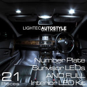 Bmw 5 Series E60 E61 21pc Pure White Canbus Led Interior Upgrade