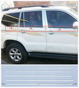 Steel-Bottom-window-trim-for-Toyota-Prado-FJ120-2003-2004-2005-2006-2007-08-09