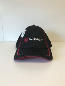 Image is loading Savage-Sport-Mesh-Cap-Black-and-Red-Adjustable- 3d1b17030c6
