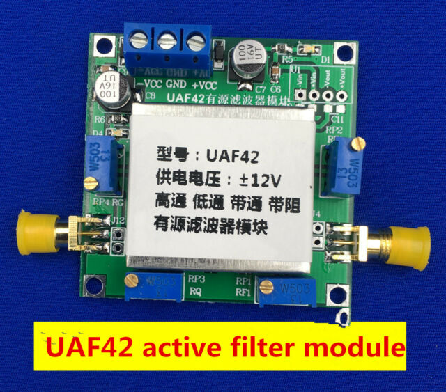 UAF42 Universal Active Filter Adjustable Narrow Low /High Pass /Band Pass  Filter