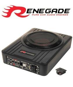 20-3cm-Aktiv-Amp-Lified-unter-Sitz-Slim-Schale-Subwoofer-Bass-Box-Fernbedienung