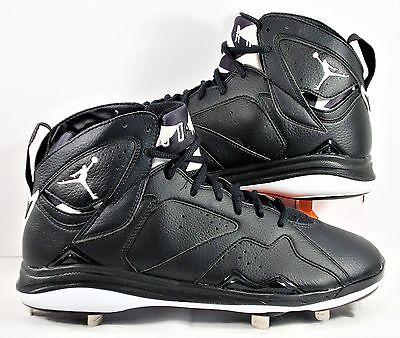 Vibrar prosperidad reunirse  Nike Air Jordan 7 VII Retro Black Oreo Metal Baseball Cleat Sz 14 NEW  684943 010 | eBay