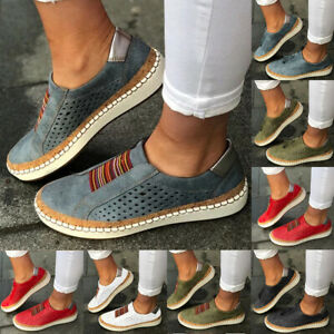 Womens-Casual-Sneakers-Ladies-Hollow-Breathable-Slip-On-Shoes-Flat-Pumps-Loafers