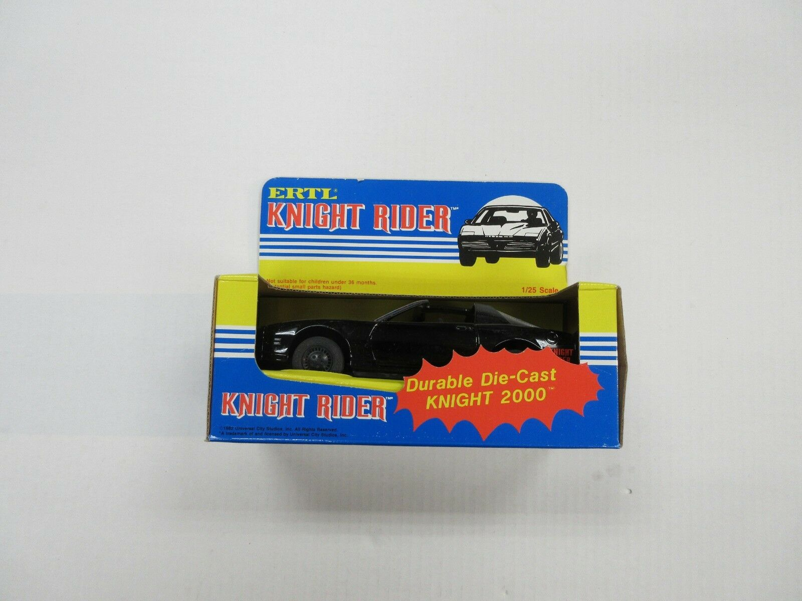 1982 ERTL KNIGHT RIDER 2000 DIE-CAST 1/25 SCALE CAR W/ BOX DAVID HASSELHOFF