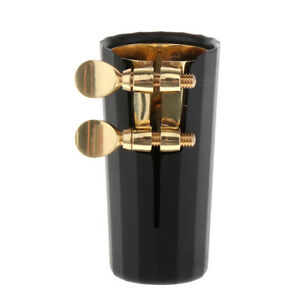Gold-Nickel-Plated-Soprano-Saxophone-Sax-Mouthpiece-Ligature-amp-Plastic-Cap