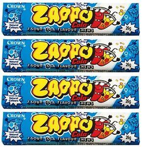 Bulk-Lot-20-x-Zappo-Chews-Cola-26g-Crown-Sour-Candy-Buffet-Lollies-Sweets-Favors