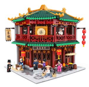 Baukaesten-Xingbao-Baukaesten-China-Ancient-Street-Town-Teehaus-Spielzeug-Modell