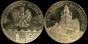 Pologne. 2 Zloty. 2007 (Pièce KM#Y.613 Neuf) Ville Stargard Szczecinski