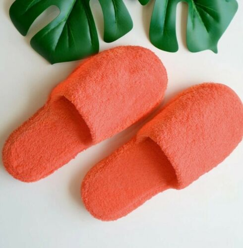 Ladies women teen luxury Cotton cosy Mule Slippers Coral fashion Medium Siz5-6