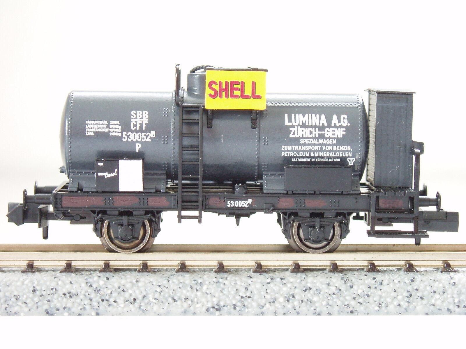 SBB Kesselwagen  SHELL Lumina A.G.  530052 (3007) JURETIC Handarbeitsmodell