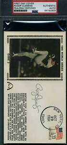 Roger Clemens Psa Dna Autograph 1986 World Series Fdc Cache Authentic Signed