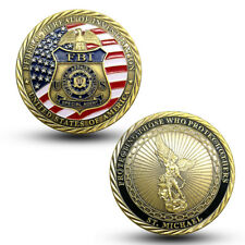 Federal Bureau of Investigation FBI Special Agent Saint Michael Challenge Coin