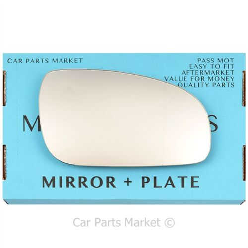 Right Driver Side Wing Door Mirror Glass for VOLVO s80 1999-2003 Plate
