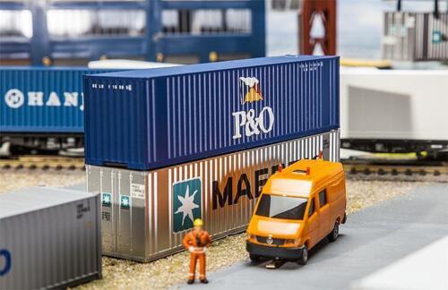 Faller 180843 pista h0 40/' Hi-Cube contenedores p /& o #neu en OVP #