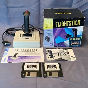 DOOM-1993-Shareware-3-5-034-Floppy-Disk-PC-Vintage-Game-CH-Products-Flightstick-Box