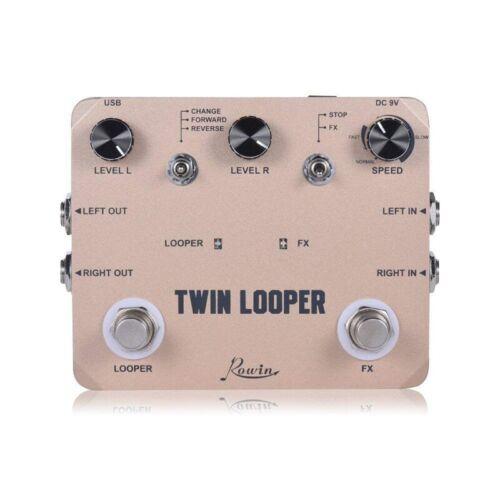 Rowin Twin Looper Station Elektor Gitarren Effekt Pedal Umlaufen Station fü S5R4