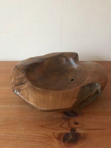Carves Teak Bowl Unique Center Piece Coffee Wood Driftwood Dish Fruit Display