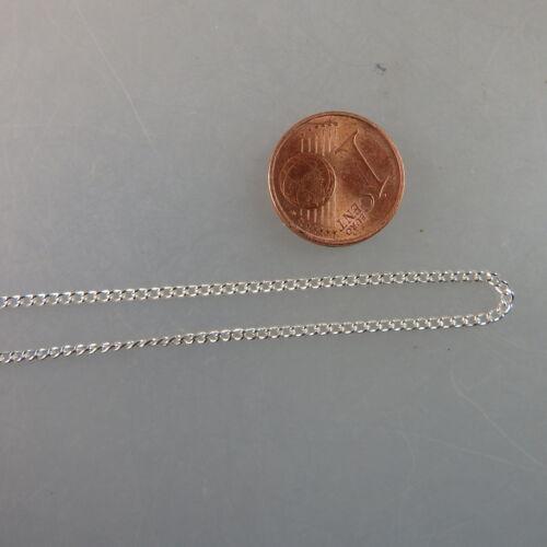 Feine stabile  Rundankerkette versilbert 1,4 mm 45 cm (41004)