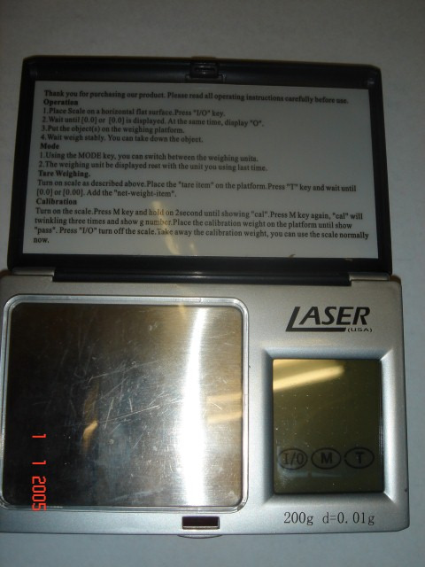 LASER SCALE, Pocket Digital Professional, touch screen, Made in USA
