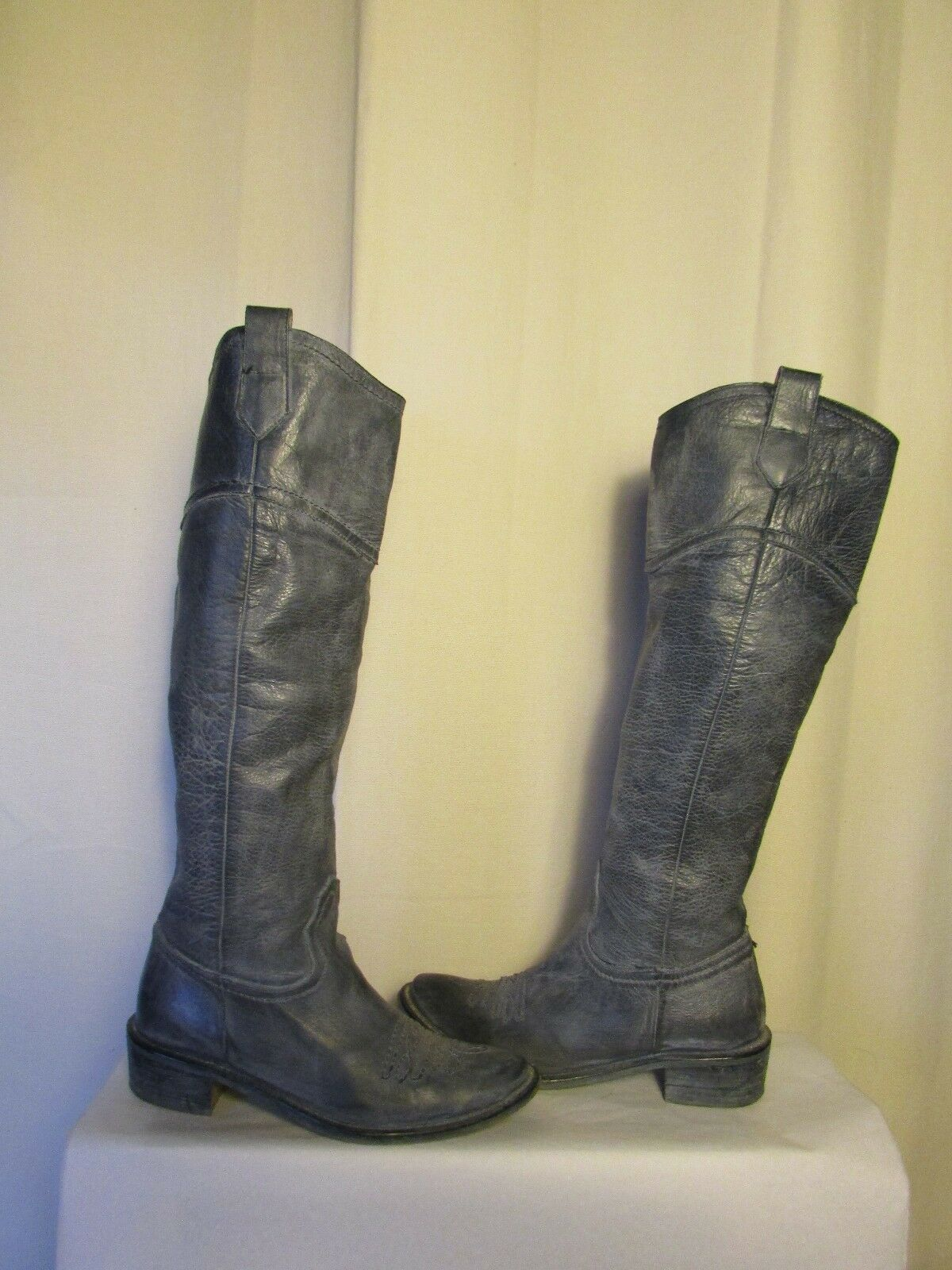 MANFIELD Boots Knees Smooth Leather Smooth Knees Lined leather T 36.5 VERY GOOD CONDITION 3af23c