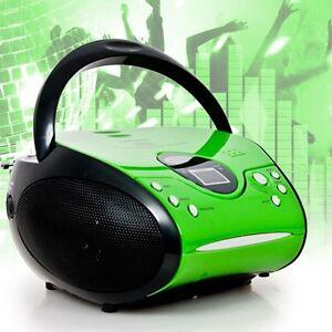 kinder cd player stereo cd spieler fm radio boombox tragbar musik boombox anlage ebay. Black Bedroom Furniture Sets. Home Design Ideas