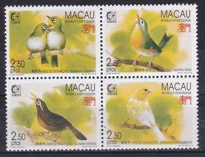 Macao 1995 Tamponné Minr. 814-817 Chanteurs-afficher Le Titre D'origine