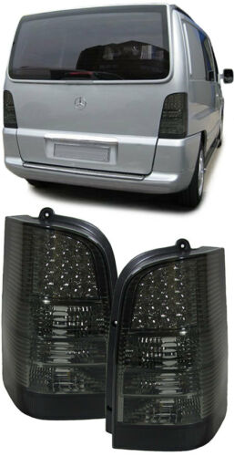 ALL SMOKED LED REAR LIGHTS FOR MERCEDES VITO W638 MODEL 2/1996 - 7/2003  CV2