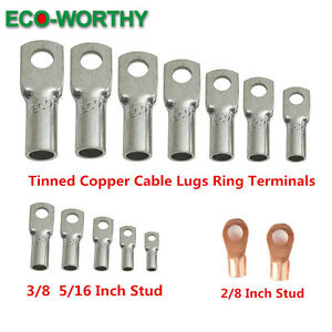 Eco Tinned Copper Cable Lug Ring Terminal Variou Awg Size