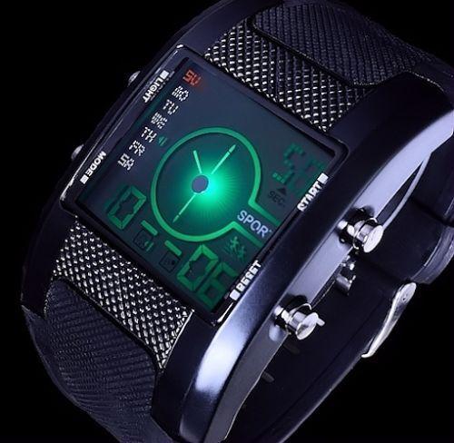 Excellanc Digitaluhr Herren Uhr Armbanduhr  Ziffern - Beleuchtung - Schwarz 1