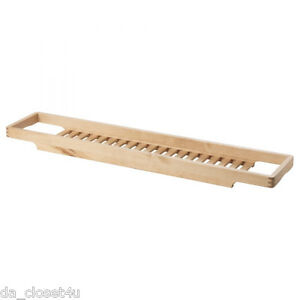 bath rack organizer ikea molger birch wood bathtub toys soap shampoo etc holder ebay. Black Bedroom Furniture Sets. Home Design Ideas