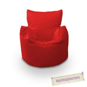 Rouge-Chaise-Sac-Enfants-Resistant-aux-Eclaboussures-Interieur-Exterieur-Pouf